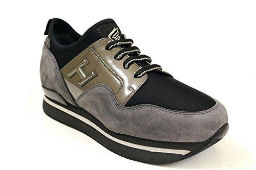 Hogan Sneakers Donna HXW222V620EBUKG56 Camoscio Grigio/Oro