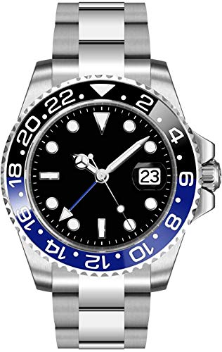 Fanmis GMT Master Sapphire Glass Blue and Black Ceramic Bezel Men