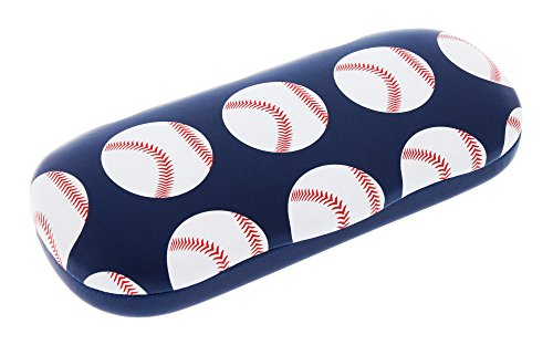 Sports Themed Hard Shell Eyeglass Case For Boys And Girls, Baseball