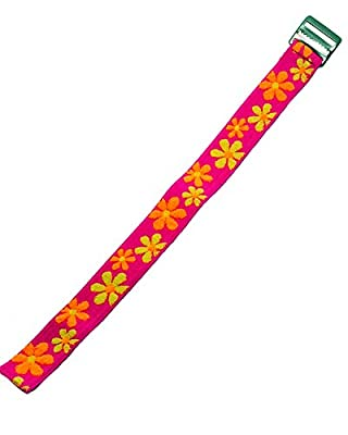 Timex Youth | Kids Elastic Strap 16mm | Pink, Orange & Yellow Floral Design Band Fits Timex T7B151, T89022, T89001, TW7B99500, & More...