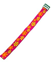 Timex Youth | Kids Elastic Strap 16mm | Pink, Orange & Yellow Floral Design Band Fits Timex T7B151, T89022, T89001, TW7B99500, More.