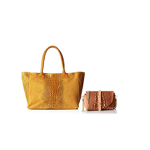 Italy Bundle Chicca En Made Bronzage In Cuir Sacs Borse qqw0I