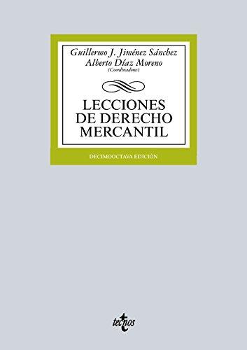 Descargar Libro Lecciones De Derecho Mercantil Guillermo J. Jiménez Sánchez