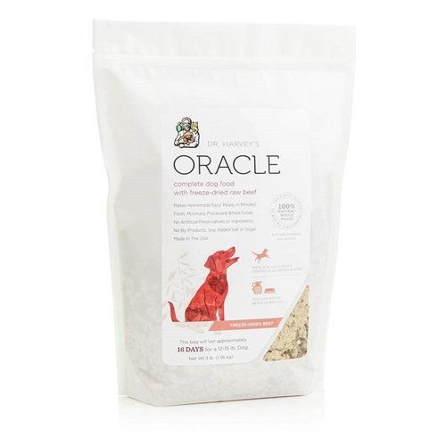 Dr. Harvey's Oracle Freeze-Dried Raw Complete Diet for Dogs, Grain-Free Beef, 6-Pound Bag