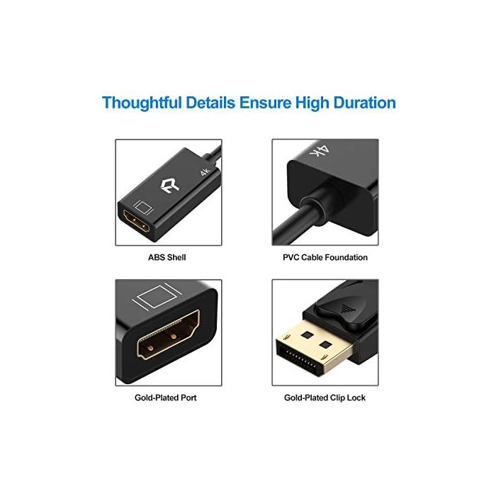 41nNY7V5 JL Haz clic aquí para comprobar si este producto es compatible con tu modelo Nota: para algunos dispositivos compatibles, que podría tomar unos segundos para que el video que se vea. Adaptador portátil se conecta un DisplayPort (DP, DP ++, DisplayPort ++) equipado portátil o de escritorio a un HDTV, monitor o proyector con entrada HDMI; Se requiere un cable HDMI (se vende por separado) Transmite audio de alta definición y vídeo desde el ordenador a una televisión de alta definición para el streaming de vídeo o juegos de azar; Conectar y configurar su monitor para un escritorio extendido o Muestra Mirrored
