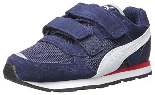 PUMA Baby Vista V Sneaker, Peacoat-White, 10 M US Toddler (10 Toddler Puma Boy Size Shoes)