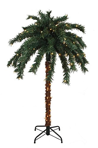 Sienna Pre-Lit Tropical Outdoor Summer Patio Palm Tree wi...