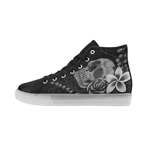 Teschi E Ossa Di Interestprint Illuminano Le Scarpe Da Donna Lampeggianti Sneaker Cranio 2