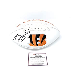 AJ Green Cincinnatti Bengals Signed Autograph Embroidered Logo Football Fanatics Authentic Certified