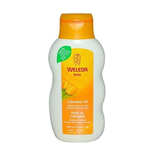 (12 PACK) - Weleda Baby Oil - Calendula (Fragrance Free) | 200ml | 12 PACK - SUPER SAVER - SAVE MONEY by Weleda Uk Ltd