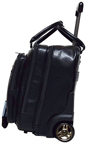 Kenneth Cole Reaction Wheel Fast Double Compartment Top Zip Wheeled Computer Case Overnighter (Black) by Kenneth Cole REACTION (Image #2)