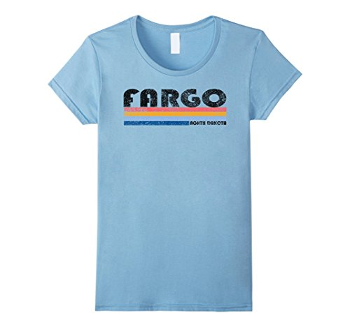 Womens Vintage 1980s Style Fargo North Dakota T Shirt Medium Baby - Women Just For Fargo