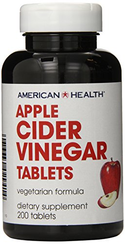 American Health Vinegar Tablets, Apple Cider, 200 Count (Health Benefits Of Cider Apple Vinegar Dosage)