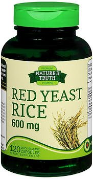 Nature's Truth Red Yeast Rice 600 mg Quick Release Capsules - 120 ct, Pack of 6
