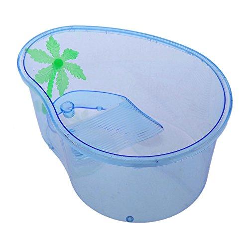 Gosear Claro PVC Caja de Cría Crianza Slider de Ecológico con Terraza / Accesorios de Tanque Acuario para Mascotas Tortuga...