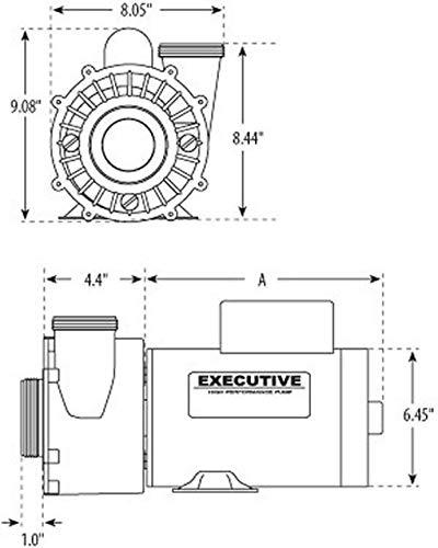 5 hp 230V 2-Sd Waterway Spa Pump Side Discharge 2 1/2