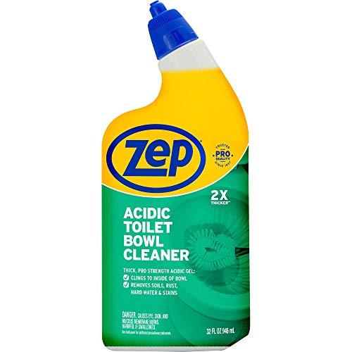 Zep Acidic Toilet Bowl Cleaner, 32 Oz, White, Wintergreen