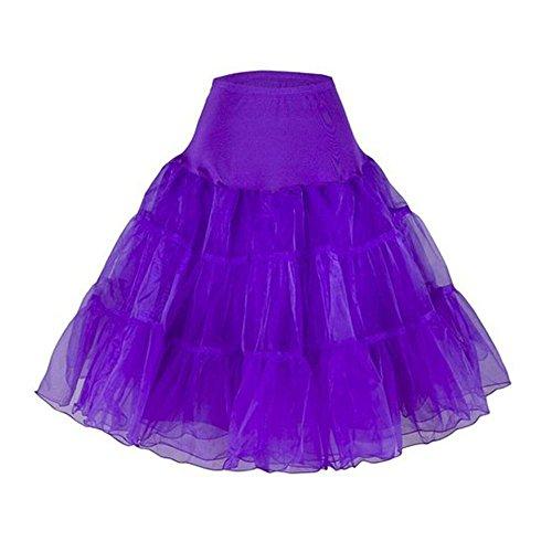 niceEshop(TM) Women's 50s Vintage Petticoat Plus Size Adult Tutu Skirt Underskirt