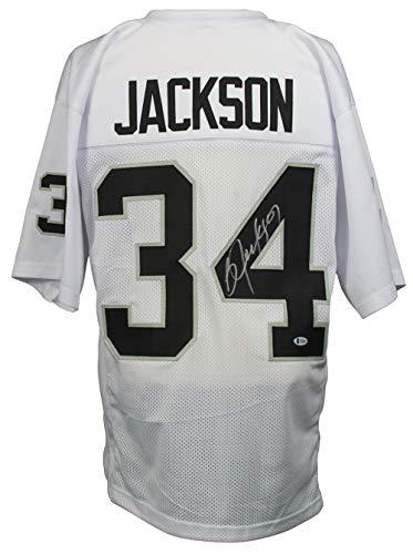 504a59f6c Bo Jackson Signed Custom White Pro-Style Football Jersey BAS