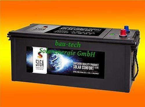 220Ah 12Volt Calcium Solar Batterie Akku Wohnmobil Boot Versorgungsbatterie von bau-tech Solarenergie GmbH
