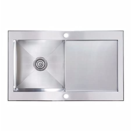 Cooke And Lewis Kitchen Sinks Cooke lewis unik 1 bowl satin stainless steel sink with reversible cooke lewis unik 1 bowl satin stainless steel sink with reversible drainer workwithnaturefo
