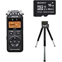 TASCAM DR-05 Portable Digital Recorder with Table Tripod and 16GB Memory Card