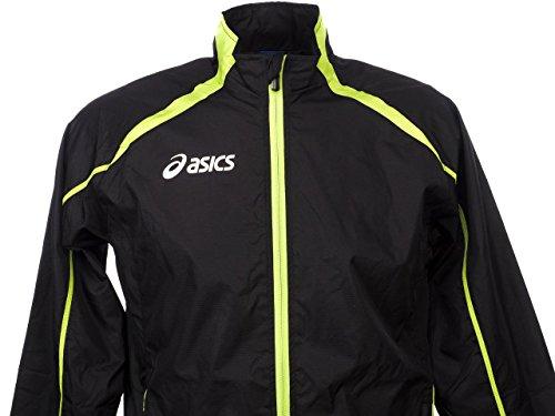 Atletica Giacca Nero Verde T245z6 Fluo Asics Antivento verde Unisex Running Nero Colin BBEwT