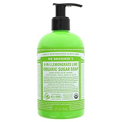 Dr. Bronner's Organic Sugar Soap - Lemongrass Lime (24 oz.)