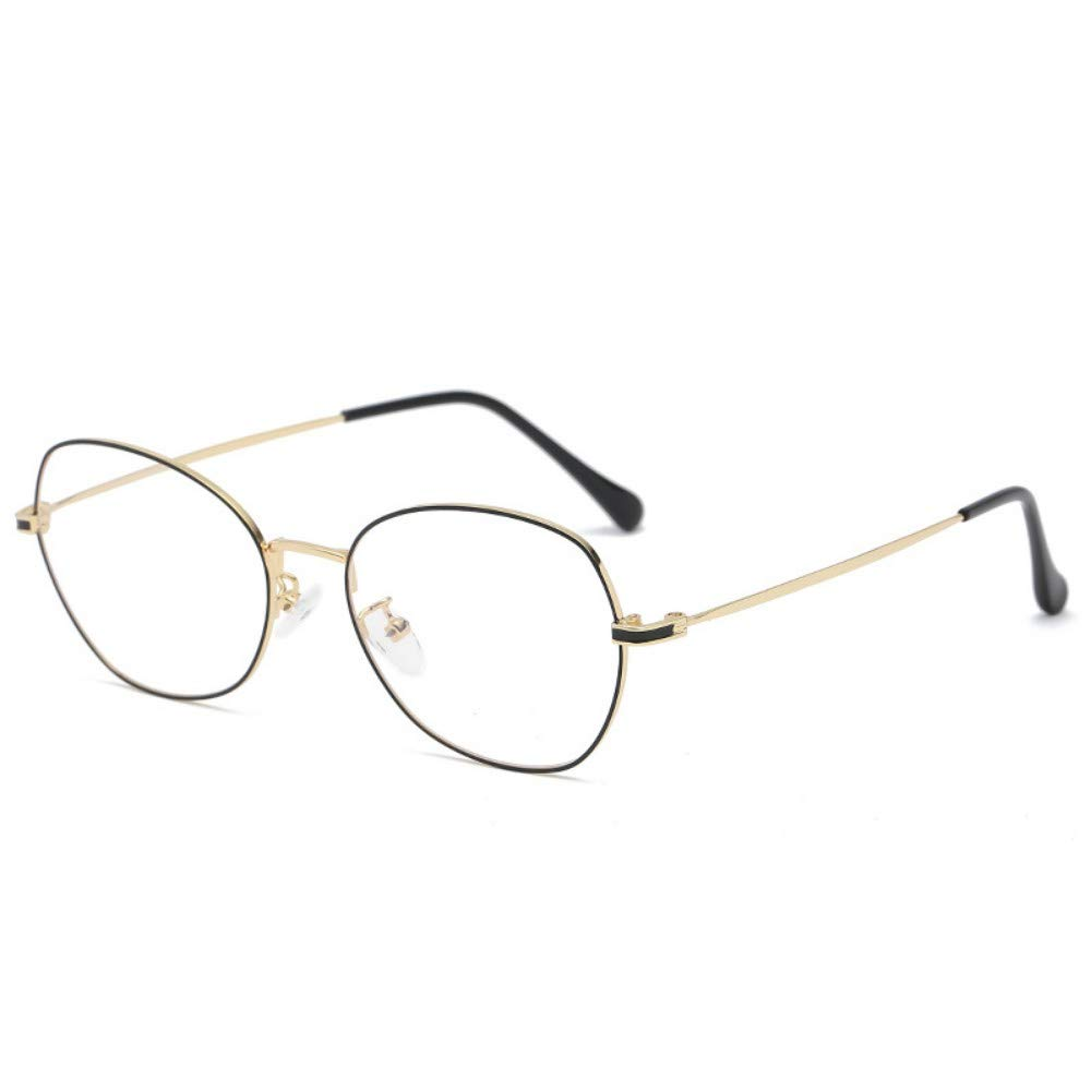 Blu-Ray Glasses Fashion Unisex Flat Mirror Personality Retro No Degree Black Gold