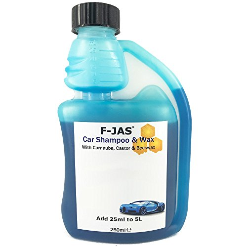 F-JAS Super Scented Vehicle Shampoo & Wax (250ml, New Vehicle Type (Type Scented Shampoo)