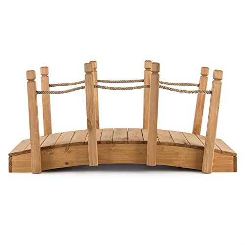 bluemfeldt Rialto • Bridge Garden • Decoration bridge • Handrail • Weather Resistant • 58x58x122cm WxHxD • solid wood • Pretreated •