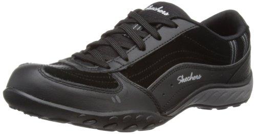 Skechers Breathe-EasyTake Ten - Zapatillas de cuero mujer negro - Schwarz (BLK)