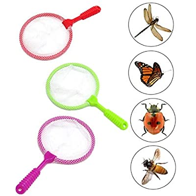Bug Catcher Multi-color Insect Catcher with Strong White Mesh and Comfortable Grip Party Favor - BPA-free Material Themed Birthday Decoration - Nature Exploration Toys | Science Early Learning - Pack: Toys & Games