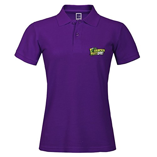 Short Sleeve Polo Jersey Purple Sport Polo Uniform With Size Medium For Women