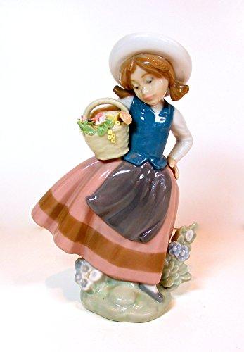 Lladro Sweet Scent Girl Figurine,flower Basket,1983,#5221 (Lladro Girl Flowers)