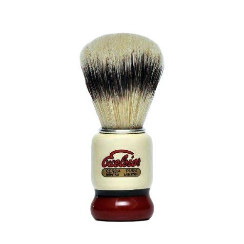 Brocha de Afeitar Semogue Modelo 1438 Excelsior Pelo Suave de Pura Cerda Europea Shaving Brush ONOGAL