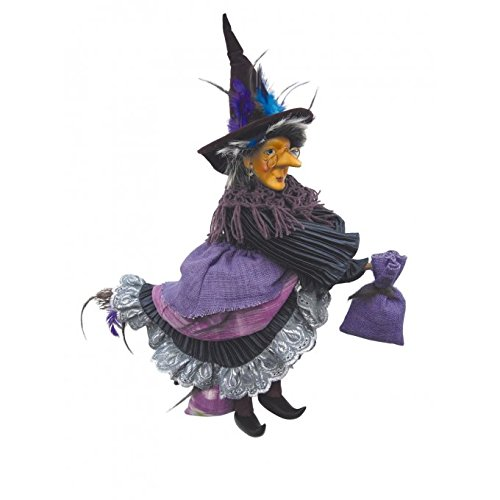 Witches of Pendle - Rowena Witch Flying (Purple) 35cm 5890-1