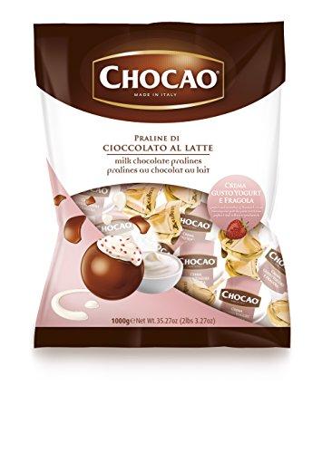 (Vergani, Italian Milk Chocolate Pralines w/ Yogurt And Strawberries Cream (1.250 Lbs))