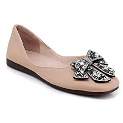 Flat PU Leather Bowknot Ballet Shoes