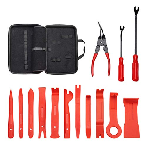 UTOOL Ultra Trim Tool 14pcs with EVA Organizer and Additional Fastener and Clip Remover