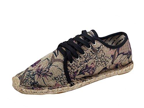 du Lacets Artisanale Violet Imprimé Espadrilles de Gloire Adulte Insun Chaussures Mixte à de Matin Ville Fabrication IgCxwnTIq8