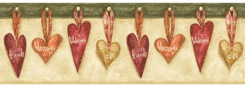 Country Hearts -Blessings-Welcome-Love- Wallpaper Border - BV006242B ... ()