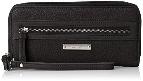 Nine West Track-Tion ACTN Zip Around Wristlet Wallet BlackBlack One Size
