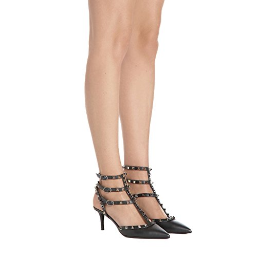 Closed Dress Comfity Summer Pointed Black High Stiletto Women's Pumps Heels Rivets e Toe nBHSR
