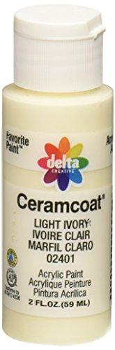 Delta Ceramcoat Acrylic Paint (Delta Creative Ceramcoat Acrylic Paint in Assorted Colors (2 oz), 2401, Light Ivory)