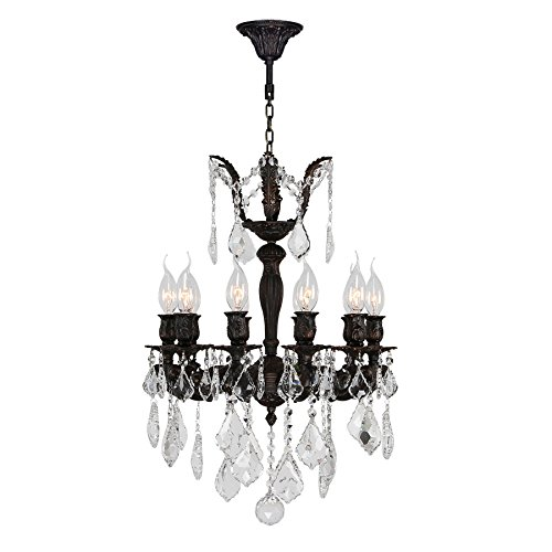 Versailles 24 Light Chandelier - Worldwide Lighting Versailles Collection 10 Light Flemish Brass Finish and Clear Crystal Chandelier 17