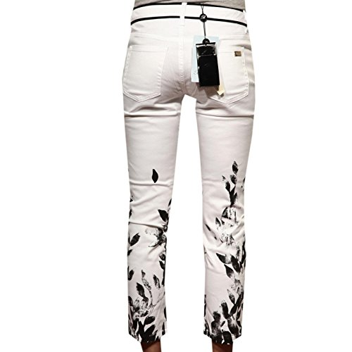 Women Trousers 83139 nero Donna Pantaloni Tasche 5 Blumarine Capri Bianco Jeans Bx64q8CB