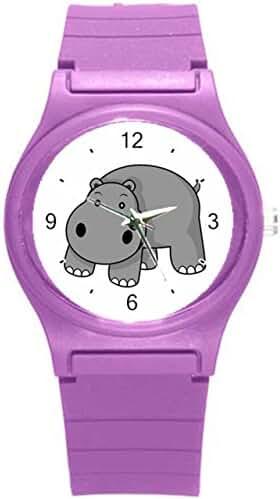 Kidozooo Boys Girls Cartoon Hippo Wild Animal 1 3/8