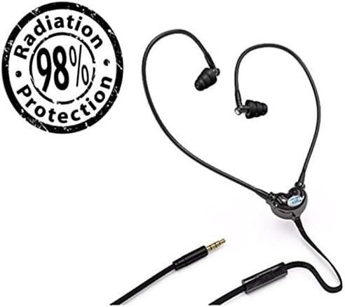 EMRSS EMF Radiation Protection Earphone Headset Sports Fitness Microphone Black