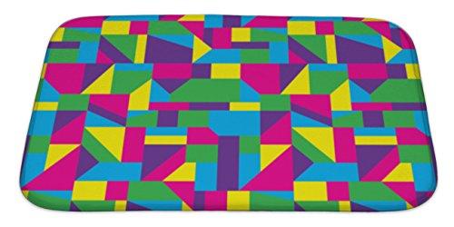 Bauhaus Green Rug (Gear New Memory Foam Bath Rug, Abstract Art Pattern, 34x21, 6303496GN)